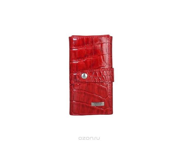 """Ключница маленькая """"кроко"""", цвет: красный. 15-334-16, Tirelli"""