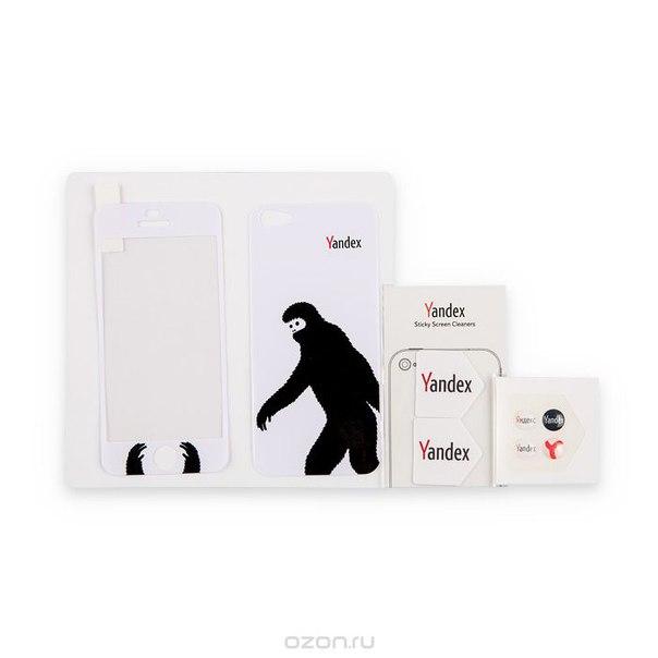 "Набор наклеек для iphone 5 яндекс ""снежный человек"", 8 предметов, Яндекс / Яndex"
