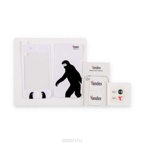 "Набор наклеек для iphone 4/4s яндекс ""снежный человек"", 8 предметов, Яндекс / Яndex"