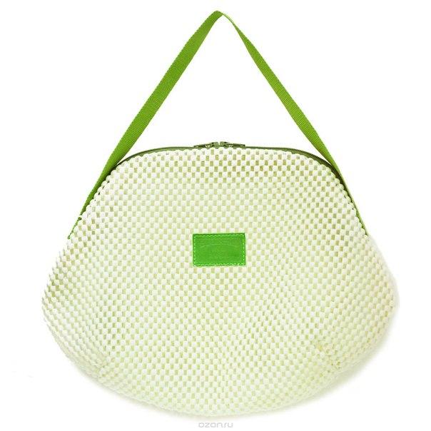 "Косметичка ""фитнес"", цвет: белый, зеленый. 270, Dimanche"