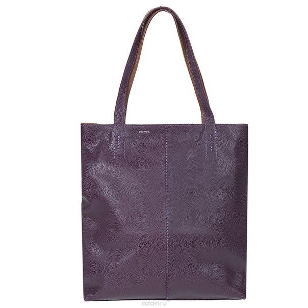 """Сумка женская """"shop bag"""", цвет: фиолетовый. 440, Dimanche"""