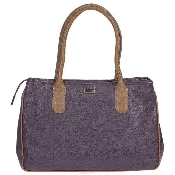 """Сумка женская  """"кристи"""", цвет: фиолетовый, коричневый. 443/2к, Dimanche"""
