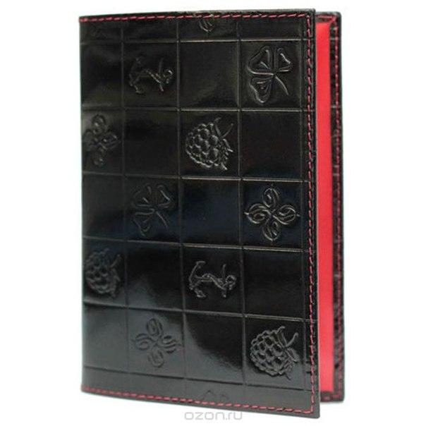 """Обложка для паспорта женская """"bonbon"""", цвет: черный. 693, Dimanche"""