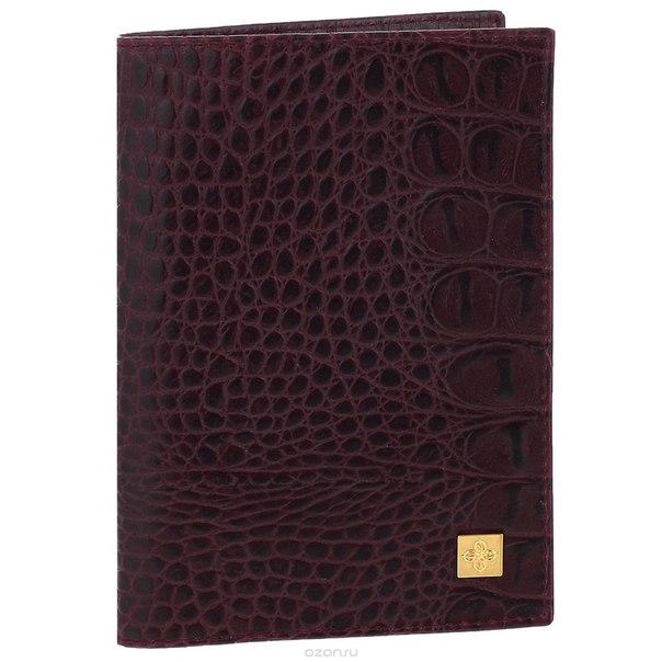 """Обложка для паспорта женская """"sangria"""", цвет: бордовый. 710, Dimanche"""