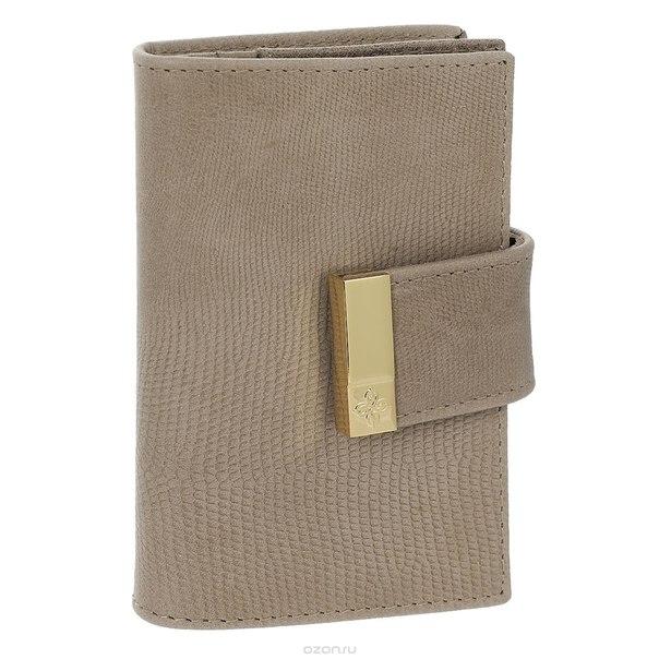 """Футляр для кредитных карт """"elite beige"""", цвет: бежевый. 737, Dimanche"""