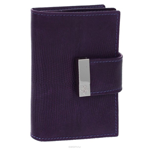"Футляр для дисконтных карт  ""elite violet"", цвет: фиолетовый. 887, Dimanche"