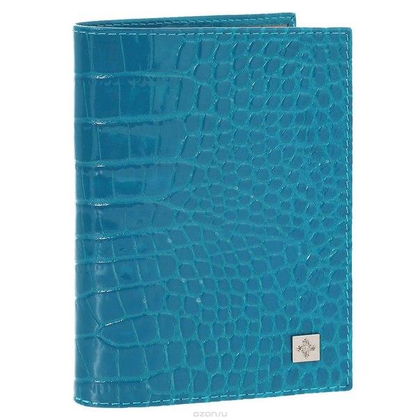 """Обложка для паспорта """"электрик"""", цвет: лазурь. 950, Dimanche"""