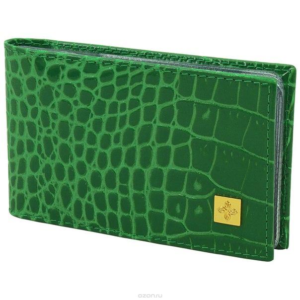 """Визитница """"казино"""", цвет: зеленый. 984, Dimanche"""