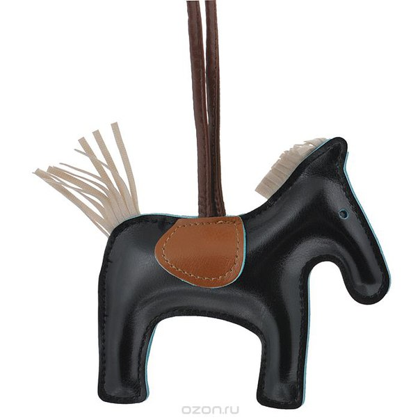 Подвеска на сумку , цвет: черный. лошадка 10, Cheribags