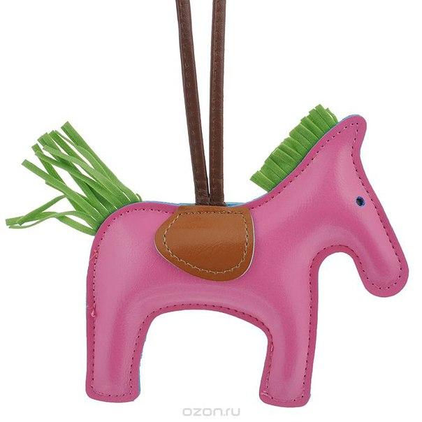 Подвеска на сумку , цвет: розовый. лошадка 18, Cheribags