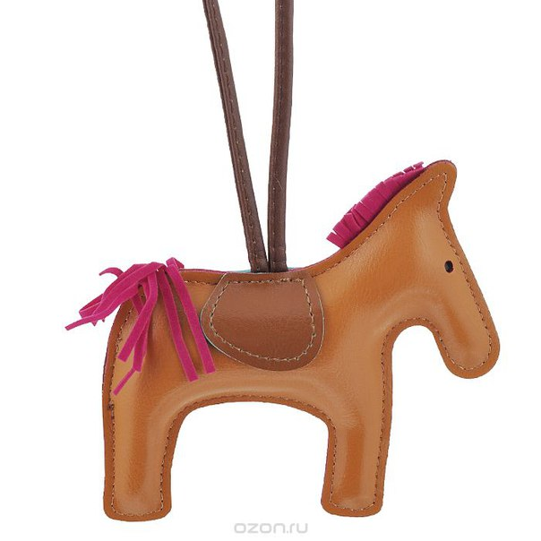 Подвеска на сумку , цвет: рыжий. лошадка 28, Cheribags