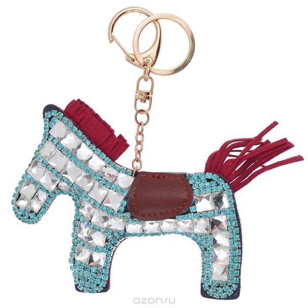 Подвеска-брелок , цвет: голубой, синий. лошадь 3, Cheribags