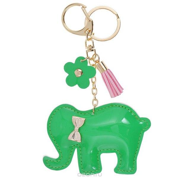 Подвеска-брелок , цвет: зеленый. слоник 14, Cheribags