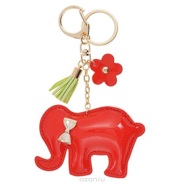 Подвеска-брелок , цвет: красный. слоник 16, Cheribags