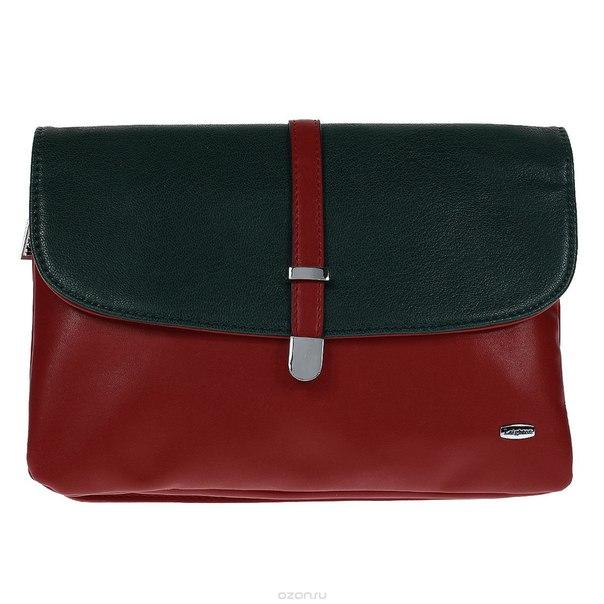 Клатч , цвет: красно-зеленый. 560431-339, Leighton