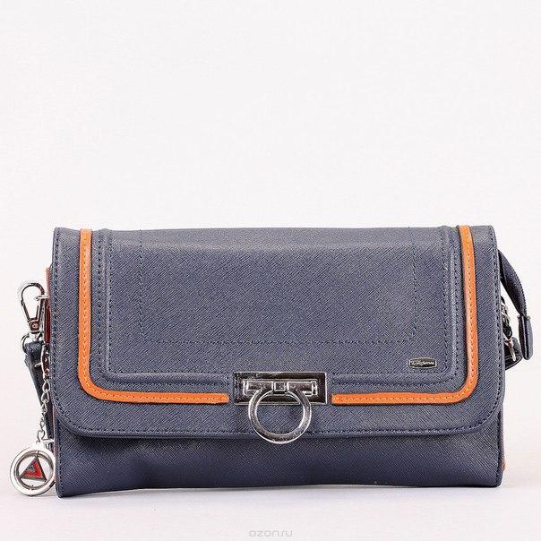 Клатч , цвет: синий, оранжевый. 570306-3769, Leighton