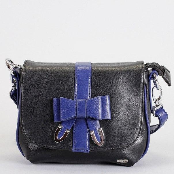 Клатч , цвет: черный, синий. 82451-5590, Leighton