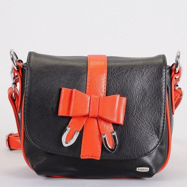 Клатч , цвет: черный, оранжевый. 82451-5590, Leighton