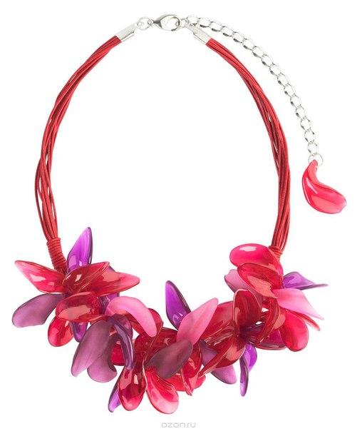 Ожерелье , цвет: бордовый, розовый. n1527, Lalo Treasures