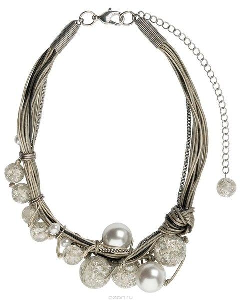 Ожерелье , цвет: белый, бежевый. n1471, Lalo Treasures