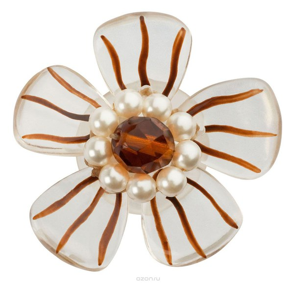 Серьги-клипсы , цвет: бежевый, коричневый. e3484/2, Lalo Treasures