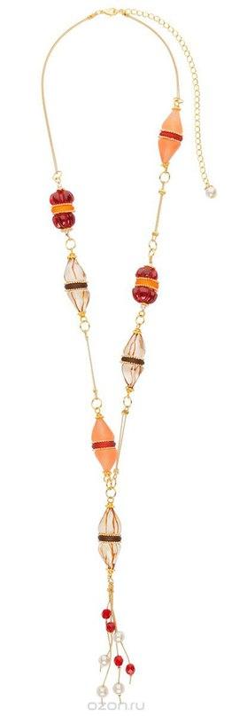 Колье , цвет: золотистый, красный. p4484, Lalo Treasures