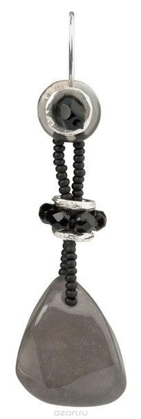 Серьги , цвет: серый, черный. e3480/3, Lalo Treasures