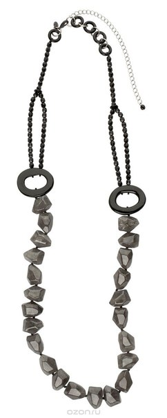 Ожерелье , цвет: серый, черный. n1480/2, Lalo Treasures
