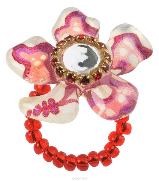 Кольцо , цвет: красный. r6758s, Lalo Treasures