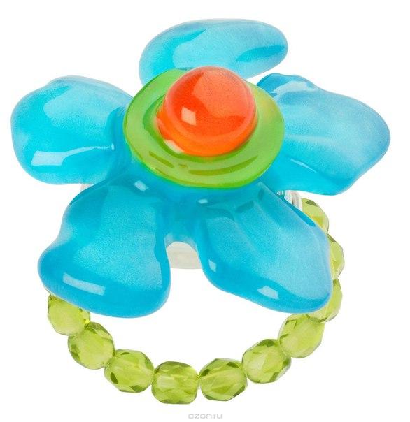 Кольцо , цвет: голубой, зеленый. r6839s, Lalo Treasures
