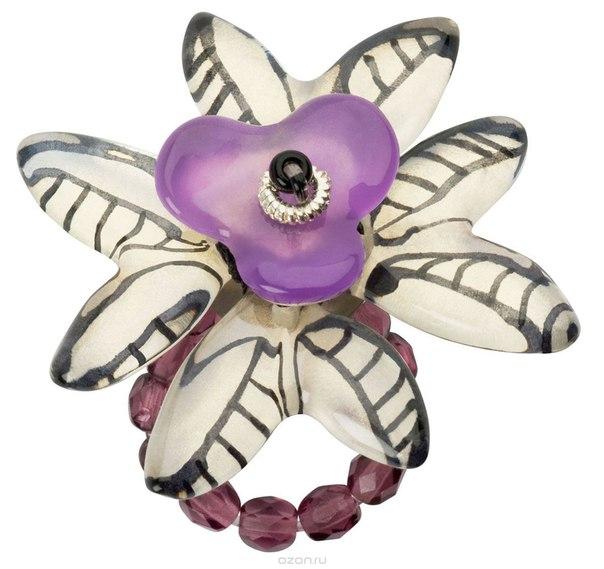 Кольцо , цвет: фиолетовый. r6843s, Lalo Treasures