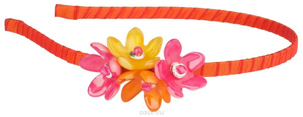 Ободок , цвет: оранжевый, розовый. hr4583, Lalo Treasures