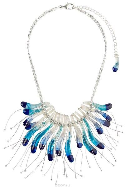 Колье , цвет: синий, серебристый. p4520/3, Lalo Treasures