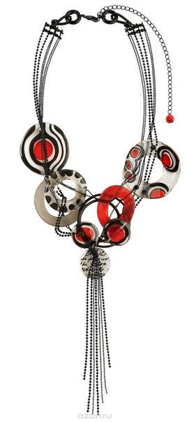 Колье , цвет: черный, красный. p4448/1, Lalo Treasures