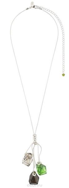 Колье , цвет: зеленый, серебристый. p4462/2, Lalo Treasures