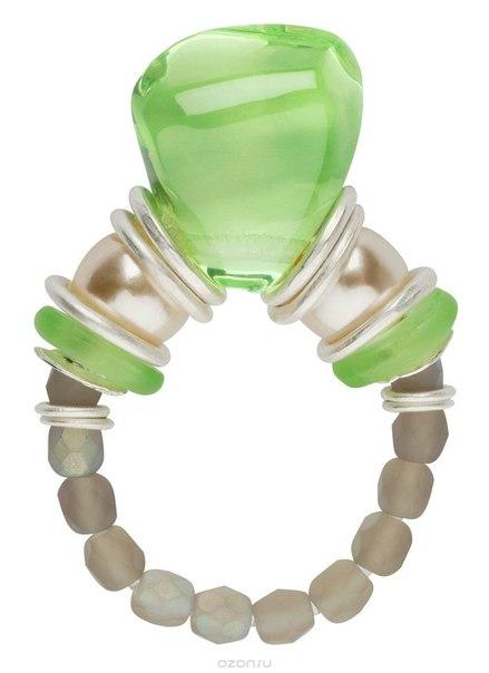Кольцо , цвет: зеленый. r6810s, Lalo Treasures