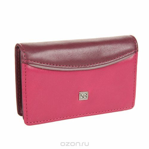 Визитница , цвет: фиолетово-розовый. 1440 arezzo, Sergio Belotti