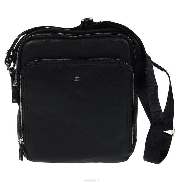 Сумка-планшет мужская , цвет: черный. 9188, Sergio Belotti