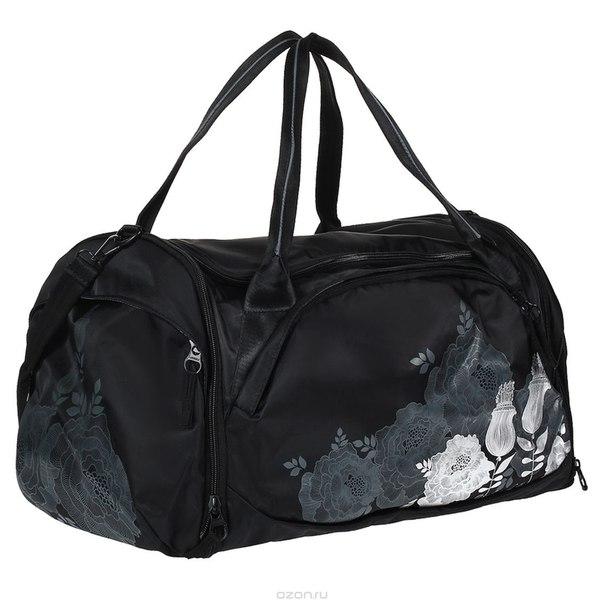 Сумка багажная , цвет: черный, серебристый. td-443-2/2, Grizzly