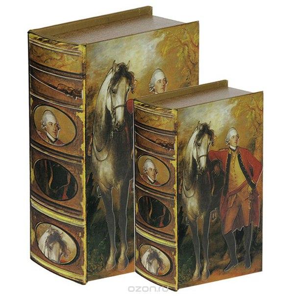 """Набор шкатулок-фолиантов """"томас гейнсборо """"портрет лорда лигонье"""", 2 шт. 184153, Win Max"""