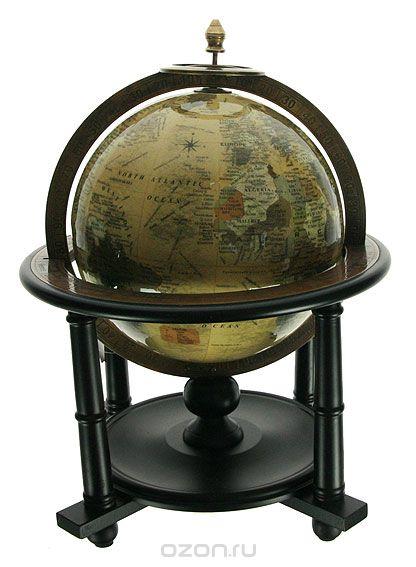 Глобус настольный , цвет: бежевый, диаметр 20 см, Win Max