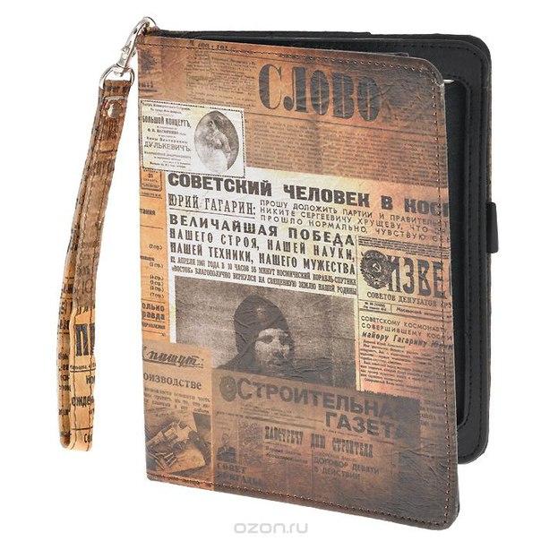 "Чехол-обложка ""ретро"" для планшета ipad mini, цвет: коричневый. 184216, Win Max"
