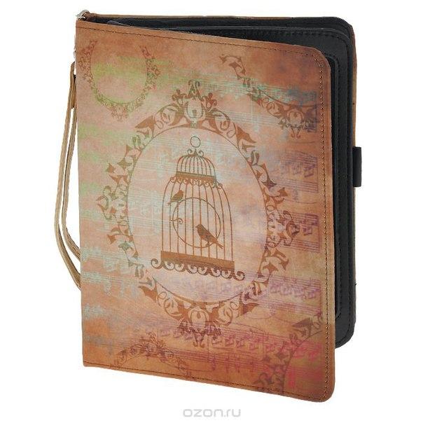 "Чехол-обложка ""прованс"" для планшета ipad mini, цвет: светло-бежевый. 184218, Win Max"