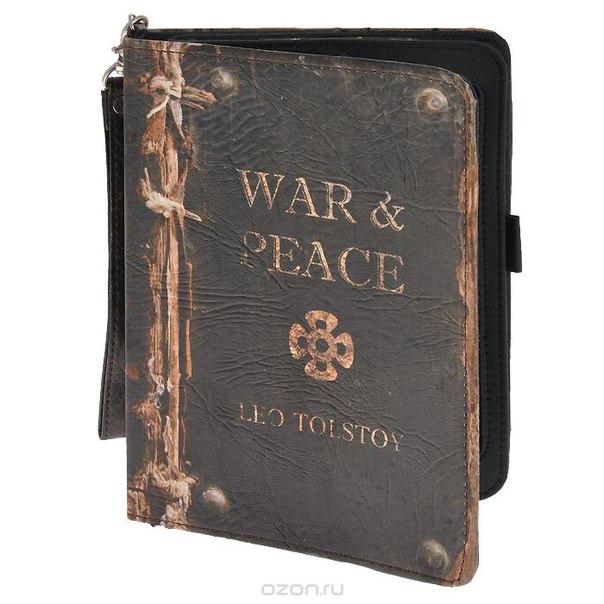 "Чехол-обложка ""война и мир"" для планшета ipad mini, цвет: темно-коричневый. 184219, Win Max"