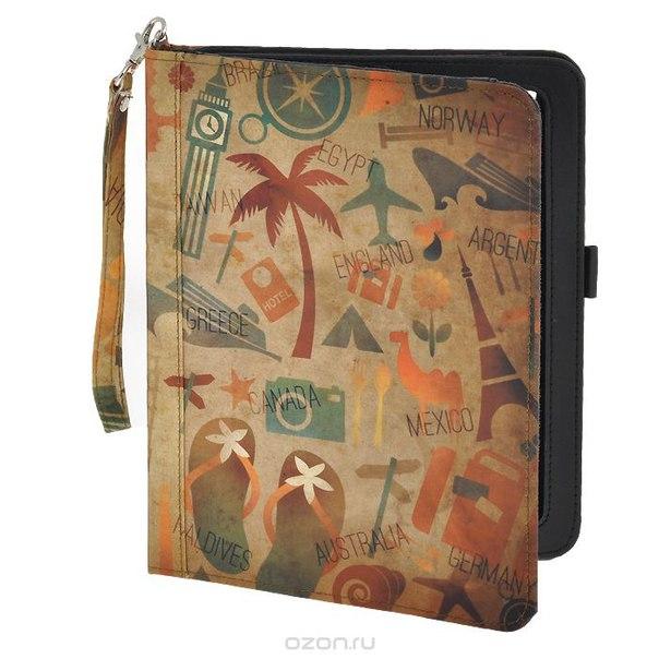 """Чехол-обложка """"путешествие"""" для планшета ipad, цвет: бежевый, оранжевый. 184223, Win Max"""