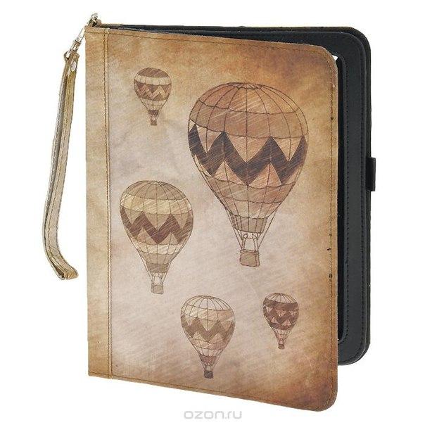 """Чехол-обложка """"вокруг света"""" для планшета ipad, цвет: светло-кричневый. 184226, Win Max"""