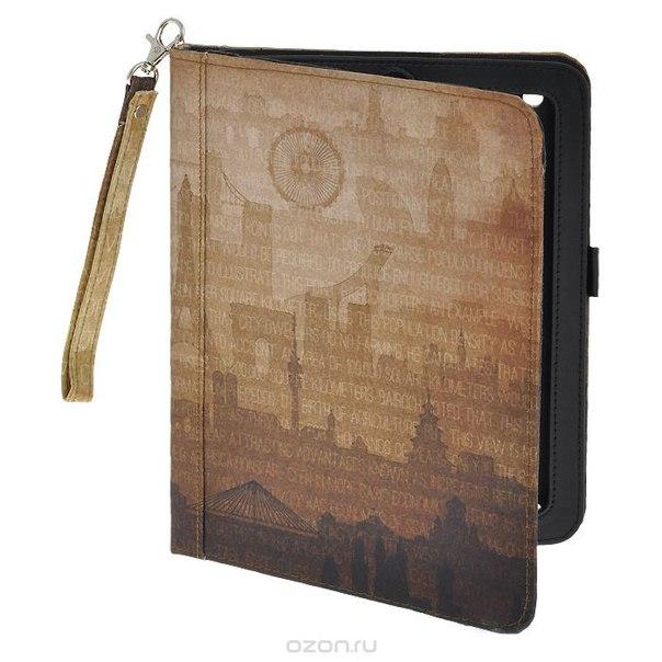 """Чехол-обложка """"города мира"""" для планшета ipad, цвет: коричневый. 184227, Win Max"""