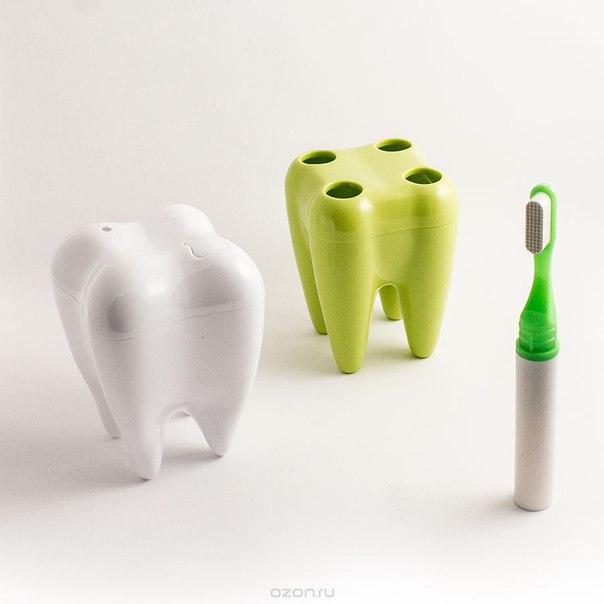 """Набор подарочно-сувенирный №1 """"зубы"""", цвет: белый, салатовый, 3 предмета. 95855, Эврика"""