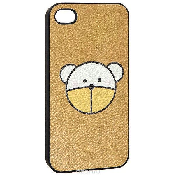 "Кавер на iphone 4 ""i миша"", цвет: коричневый. 0700777, Ezh-style"