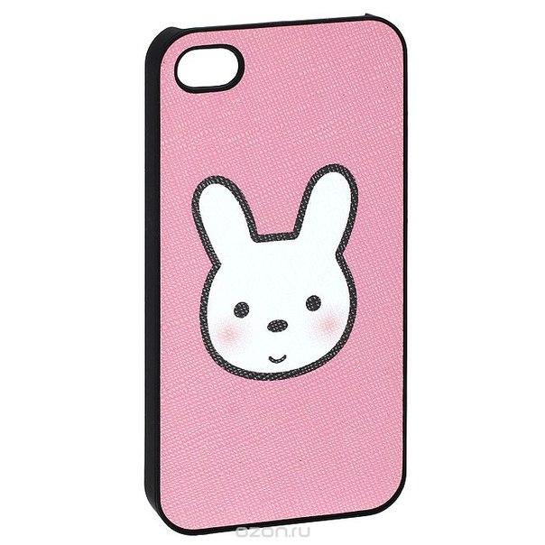 """Кавер на iphone 4 """"i зая"""", цвет: розовый. 0700779, Ezh-style"""